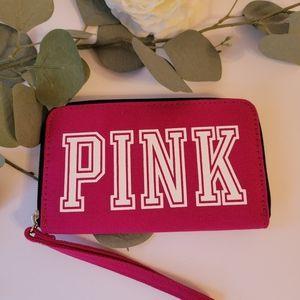 Pink Victoria's Secret wristlet wallet